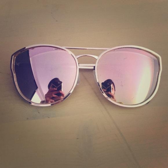 93b44a73ca QUAY rose gold mirrored reflective sunglasses
